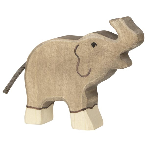 Holztiger Elephant, small trunk raised