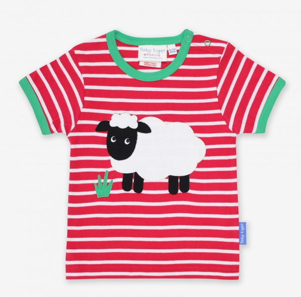 Organic Sheep Applique SS T-Shirt